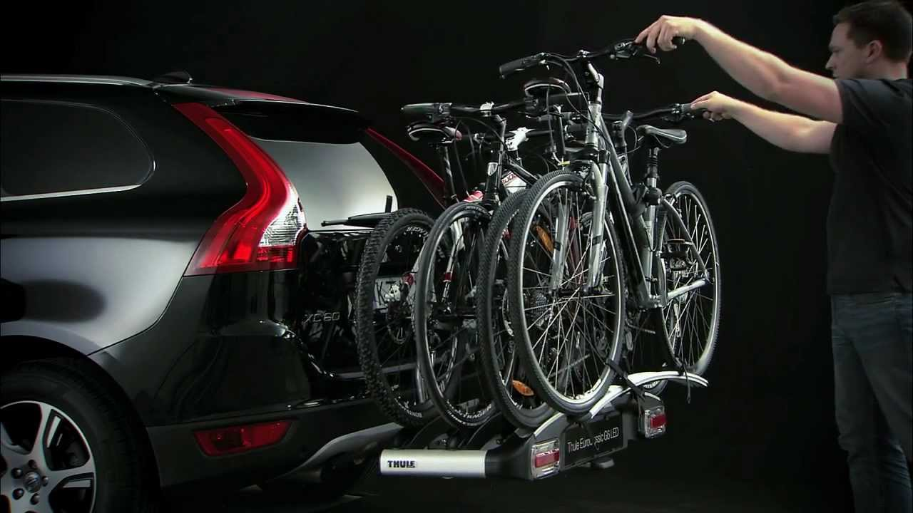 bike carrier towbar thule euroclassic g6 youtube. Black Bedroom Furniture Sets. Home Design Ideas