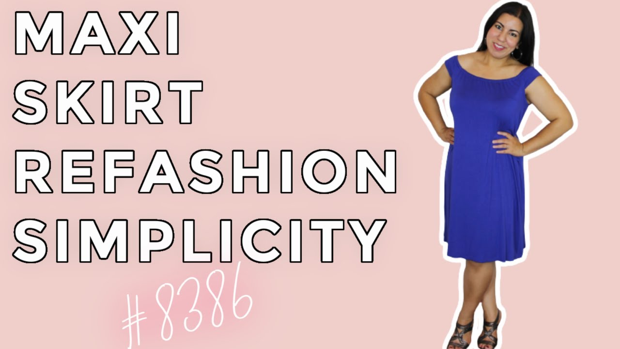 Maxi Skirt Refashion Using Simplicity 8386