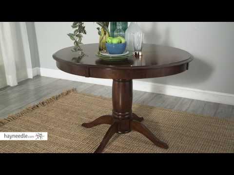 Belham Living Spencer Round Pedestal Dining Table - Espresso - Product Review Video