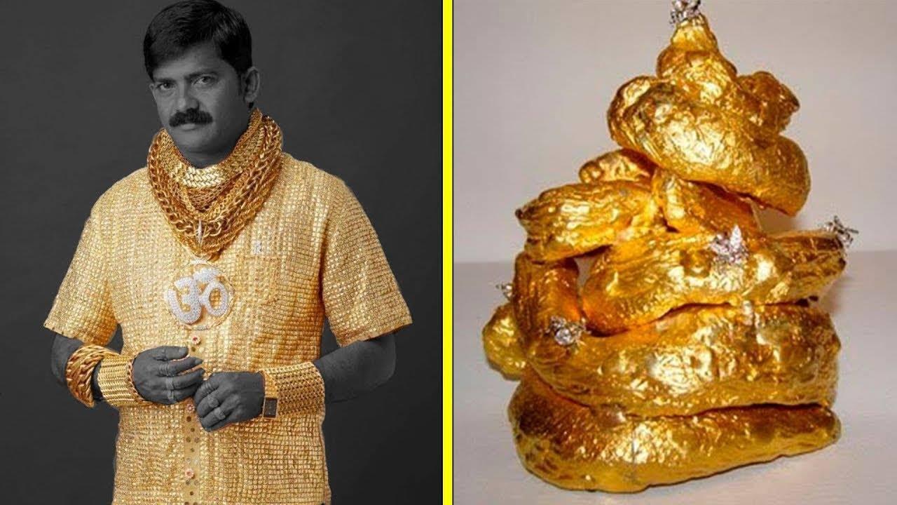 أسخف عشر أشياء صنعت من الذهب ..!