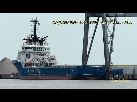 offshore tug supply ship STRIL NEPTUN OZ2151 IMO 9201786 Emden
