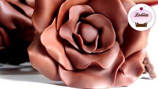 Receta de chocolate para modelar | Como hacer rosas de chocolate | Flores de chocolate paso a paso