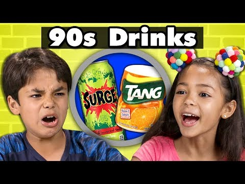 KIDS TRY 90s DRINKS! | Kids Vs. Food