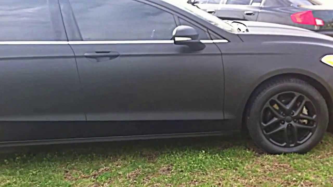 Plasti Dip Full Vehicle Matte Black 2013 Fusion Youtube