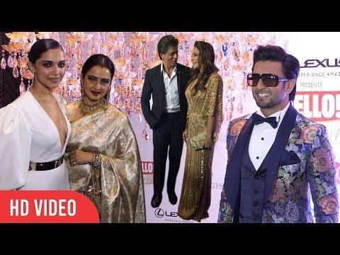 HELLO Hall Of Fame Awards 2018 FULL VIDEO | Shahrukh, Deepika, Ranveer, Rekha, And Many More