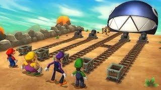 Mario Party 9 Boss Rush - Mario vs Wario vs Wauigi vs Luigi| Cartoons Mee