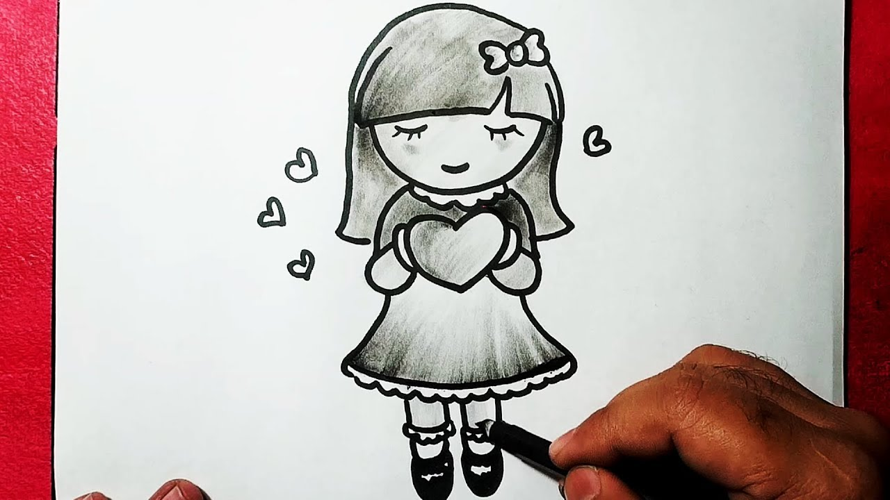 Girl Drawing Images Easy | Free download on ClipArtMag |Simple Girl Drawing