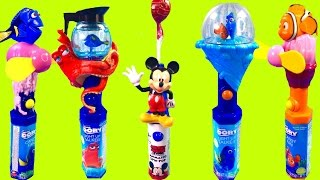 Disney Finding Dory & Mickey Mouse Magical Light Up Talking and Fan Wand Toys with Candy!