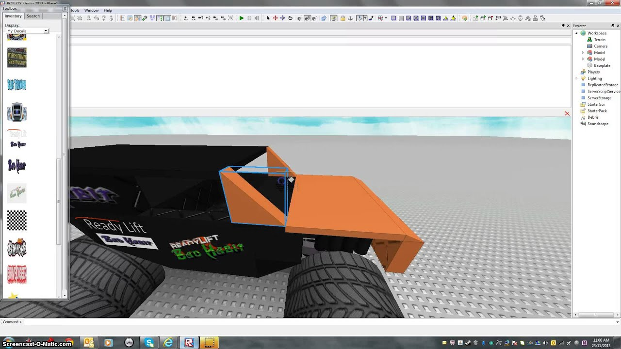 How to make a monster truck on roblox how to publish itl