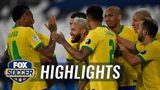Neymar scores 2nd goal of tournament, extends Brazil's lead over Peru | 2021 Copa America Highlights
