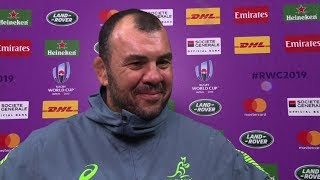 Rugby World Cup | Australia v Georgia | Post-match interview with Michael Cheika
