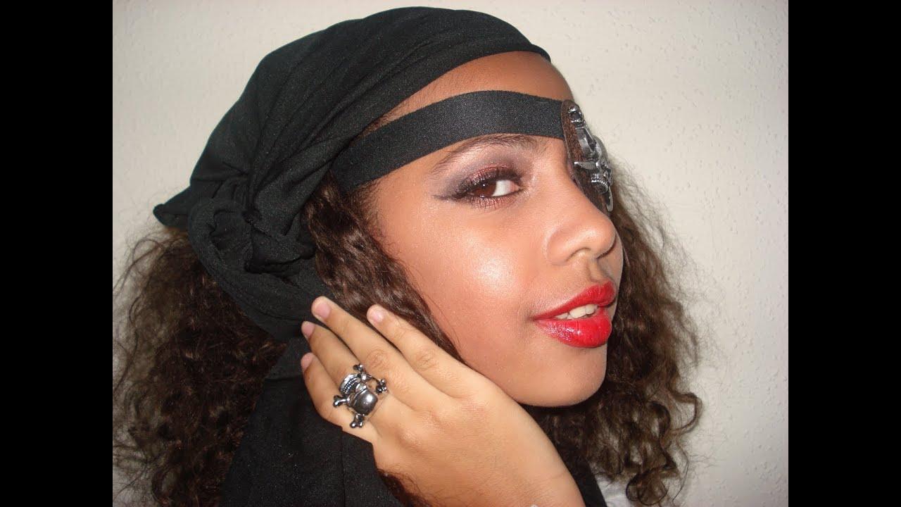 Pirate Makeup Tutorial for teen girls for Halloween Night English ...