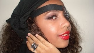 Pirate Makeup Tutorial for teen girls for Halloween Night English !!!!