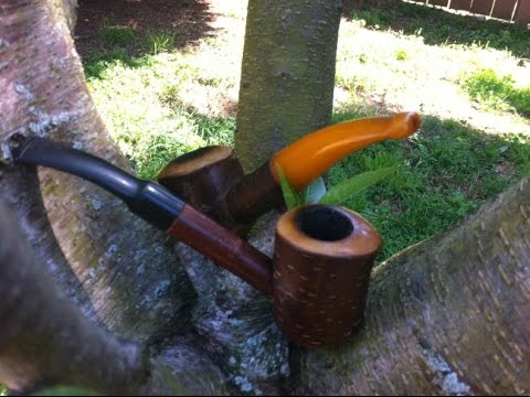 Rustic cherry wood pipes pipetobacco.com