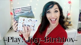 ipsy vs birchbox vs play by sephora january 2017 unboxing and review