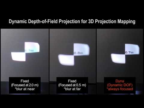 Dynamic Depth-of-Field Projection for 3D Projection Mapping