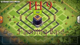 Clash Of Clans : TH 9 Farming Base ( Save Dark Elixir ) with Replay