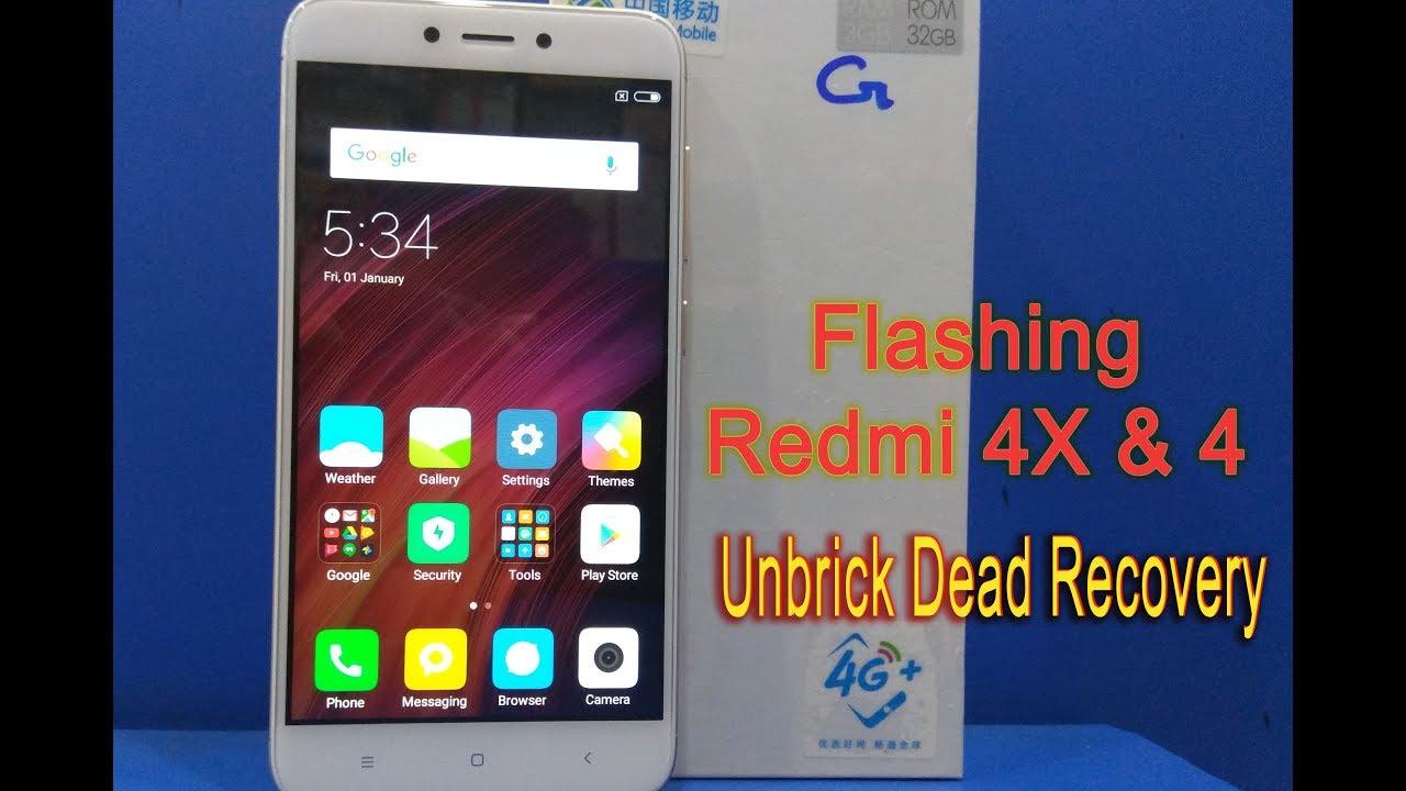 Unbrick, Flash, Dead Recovery, Mi redmi 4X and Redmi 4 Via Mi Flash tool
