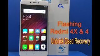 Unbrick, Flash, Dead Recovery, Mi redmi 4X and Redmi 4 Via Mi Flash tool