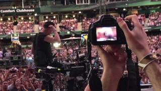 U2 taking the stage in Toronto Sunday Bloody Sunday.