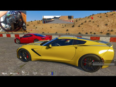 Assetto Corsa GoPro Twitter QnA !! Black Cat Country Track (First Drive) w/C7 + Tandems!