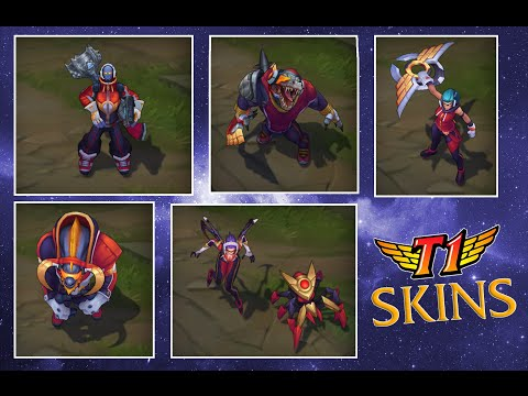 Preview Skins SKT1 | Renekton - Elise - Ryze - Azir - Kalista ...