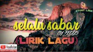 Download Selalu sabar ( shiffah harun ) versi reggae (lirik lagu)