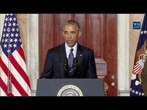 President Obama Delivers a Statement to the Press