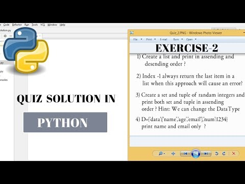 #15 Python Tutorial for Beginners | Quiz_2 Solution | python exercise solution thumbnail