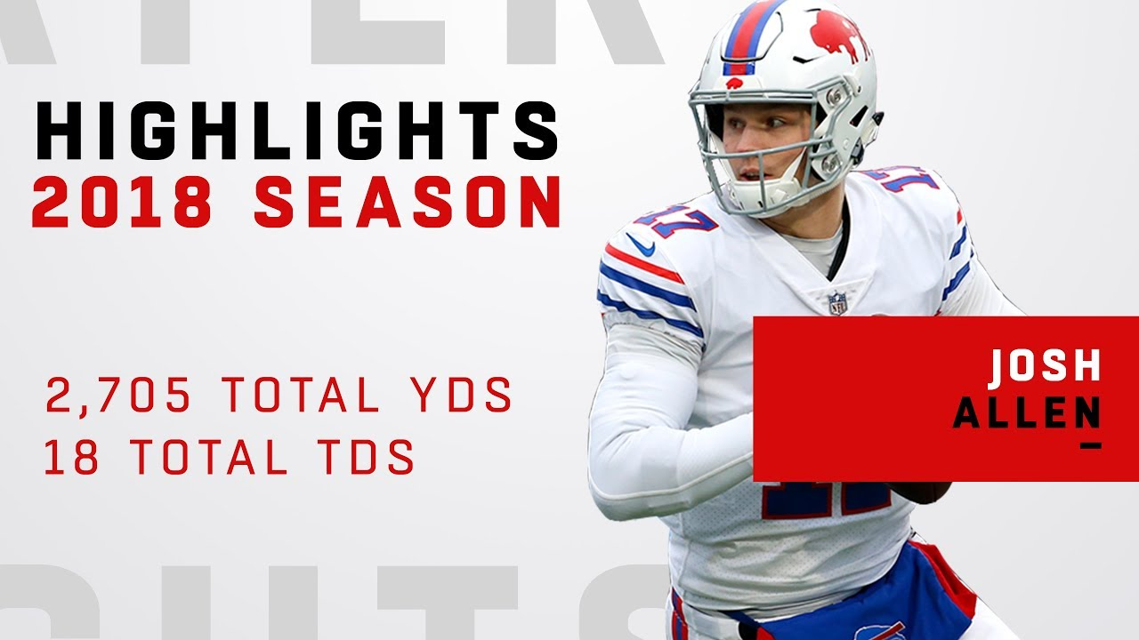 timeless design cc7eb fe8f0 Josh Allen's FULL Rookie Highlights in 2018!