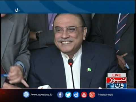 Asif Zardari addresses media in Islamabad