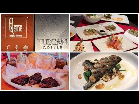 Celebrity Cruises Specialty Dining & Menus (QSine, Tuscan Grille, Sushi On 5)
