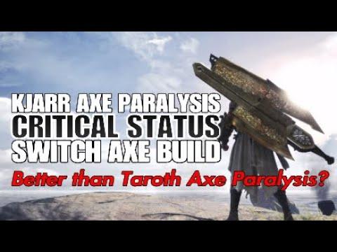 Monster Hunter: World Kjarr Axe Paralysis Critical Status Switch Axe Build thumbnail