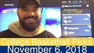 CBB Picks (11-6-18) | College Basketball NCAAB Expert Predictions | NCAAM | Men's NCAA