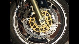 Ремонт переднего тормозного диска мотоцикла