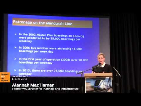 Alannah MacTiernan talks about Perth's Mandurah Rail Line