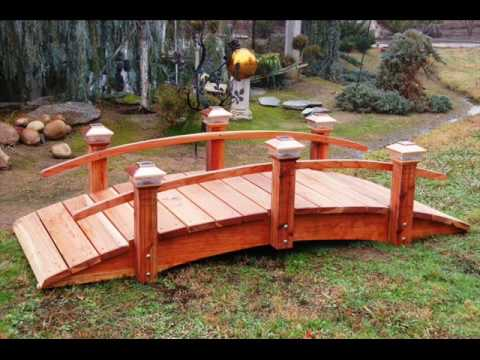 Woodworker of Dreams Builds Garden Bridge for you ! - YouTube