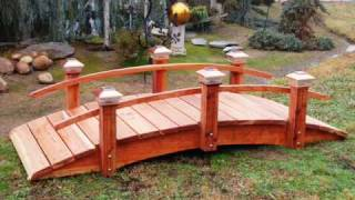 Woodworker Of Dreams Builds Garden Bridge  For You !