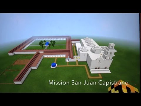 Mission San Juan Capistrano Minecraft project by Mark Cambal