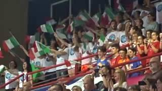 17-06-2016: Bari WGP - L'inno nazionale italiano pre Italia-Thailandia a Bari