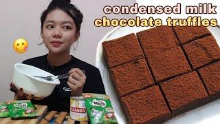 CONDENSED MILK CHOCOLATE TRUFFLES (2 INGREDIENTS ONLY) | Philippines