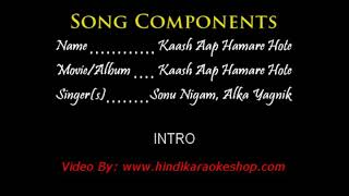 Kash app hamare hota duet Karoake and lyrics