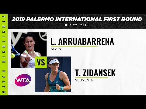 Lara Arruabarrena vs. Tamara Zidansek | 2019 Palermo Ladies Open First Round | WTA Highlights