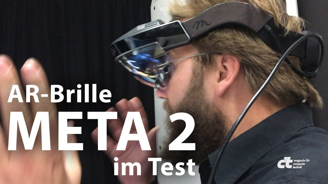 augmented reality brille meta 2 im test youtube. Black Bedroom Furniture Sets. Home Design Ideas