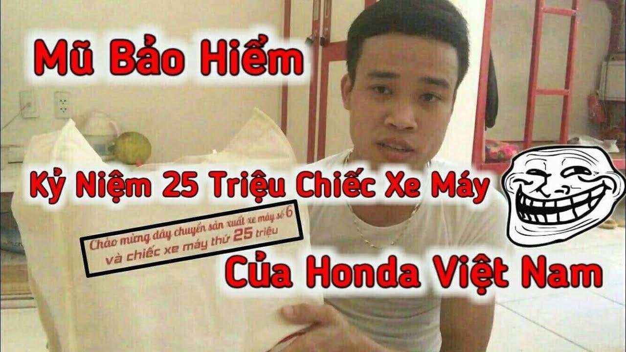 Đập Hộp Mũ Bảo Hiểm Kỷ Niệm Chiếc Xe Máy Thứ 25 Triệu Của Honda Việt Nam   Tường Trần CFM