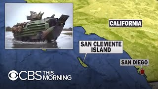 Eight marines missing, one dead after training accident in California