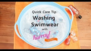 How to Wash Swimwear - Quick Care Tip with Hurray Kimmay