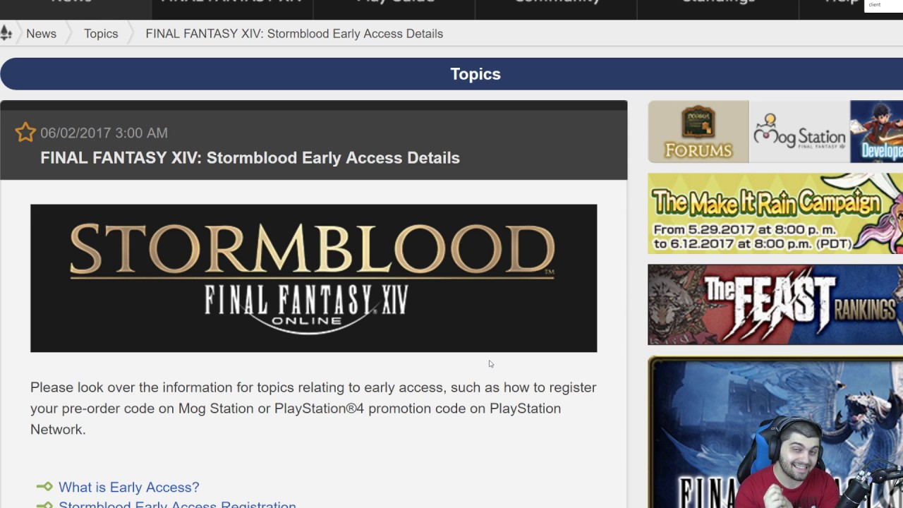 FFXIV Stormblood: Early Access Details - Server Downtime, Pre-Order Codes &  Other Details