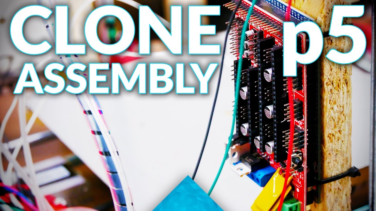 Prusa i3 MK2 3D printer clone live assembly: p5, Electronics and Firmware!