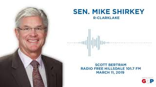Sen. Shirkey joins Scott Bertram on Radio Free Hillsdale